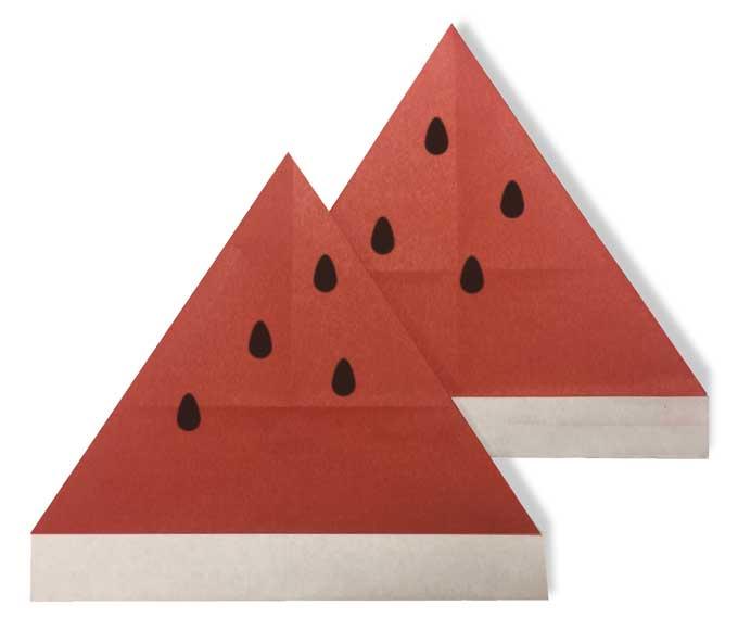 おりがみくらぶ(新宮文明)さんによるすいか2の折り紙