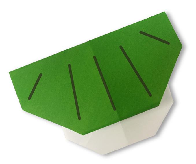 おりがみくらぶ(新宮文明)さんによるかしわもちの折り紙