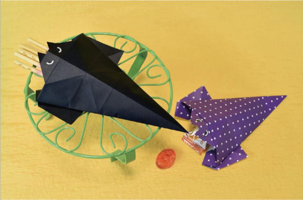 おりがみくらぶ(新宮文明)さんによる[有料] こうもりのかしいれの折り紙