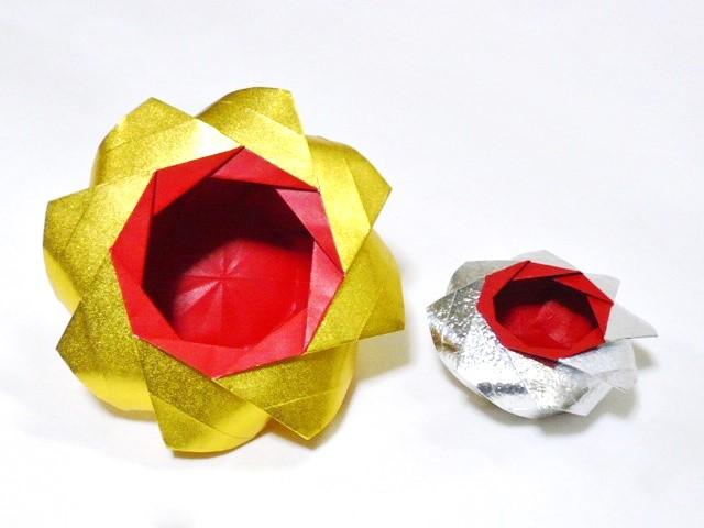 小宮はじめさんによる[有料] 華壺の折り紙