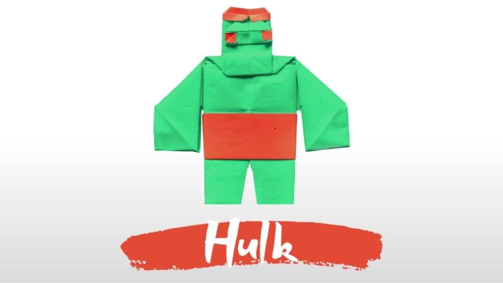 ハディさんによるハルク – Hulkの折り紙