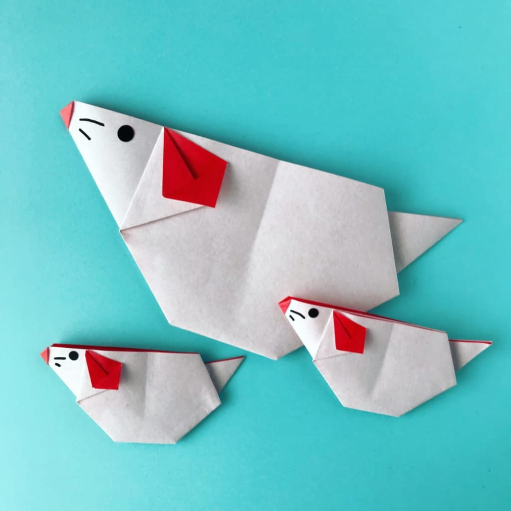 カミキィさんによるねずみの折り紙
