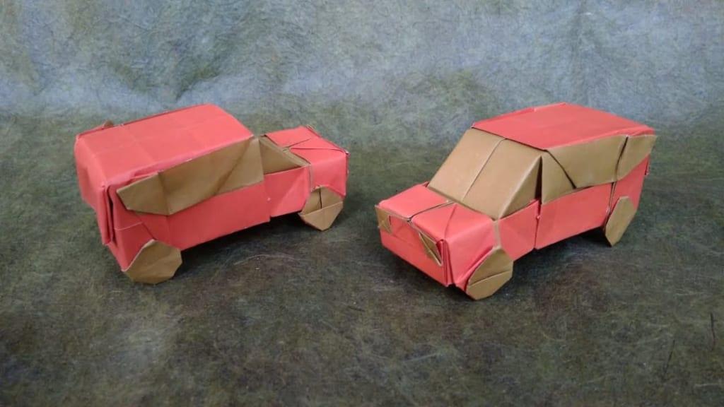 ハディさんによる車の折り紙