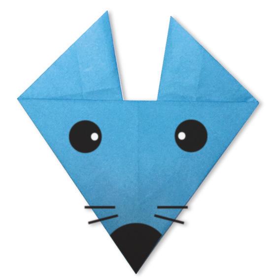 おりがみくらぶ(新宮文明)さんによるねずみのかお2の折り紙