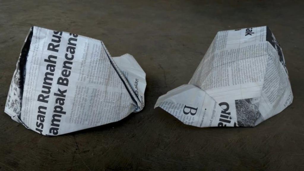 ハディさんによるキャップの折り紙