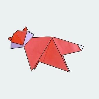 ハディさんによるキツネの折り紙