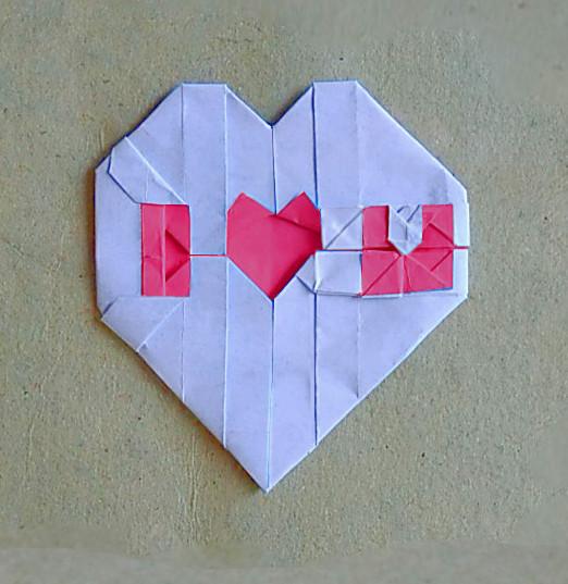 ハディさんによるI♥Uの折り紙
