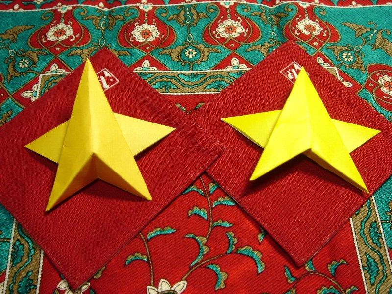 Oriya小町さんによる星の折り紙