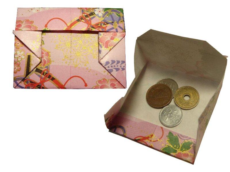 Oriya小町さんによる小銭入れの折り紙
