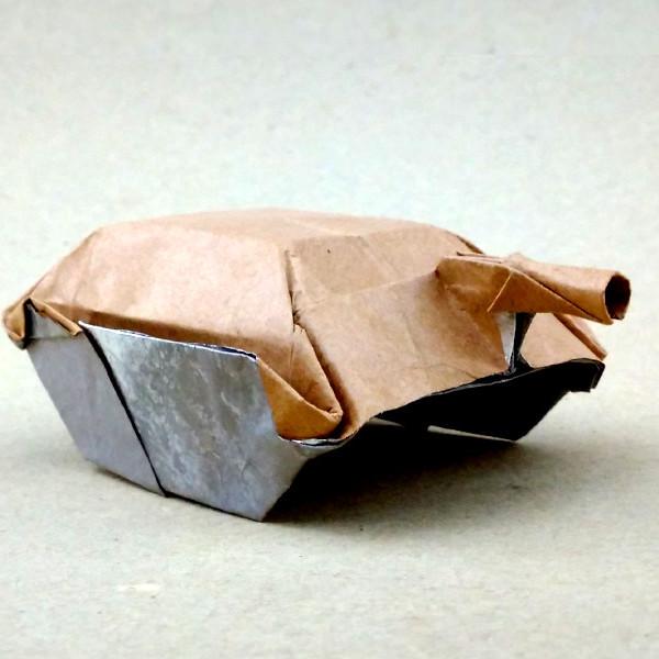 ハディさんによる駆逐戦車の折り紙