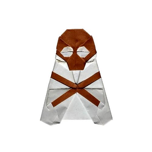 ハディさんによるドクロマーク(髑髏と骨)の折り紙