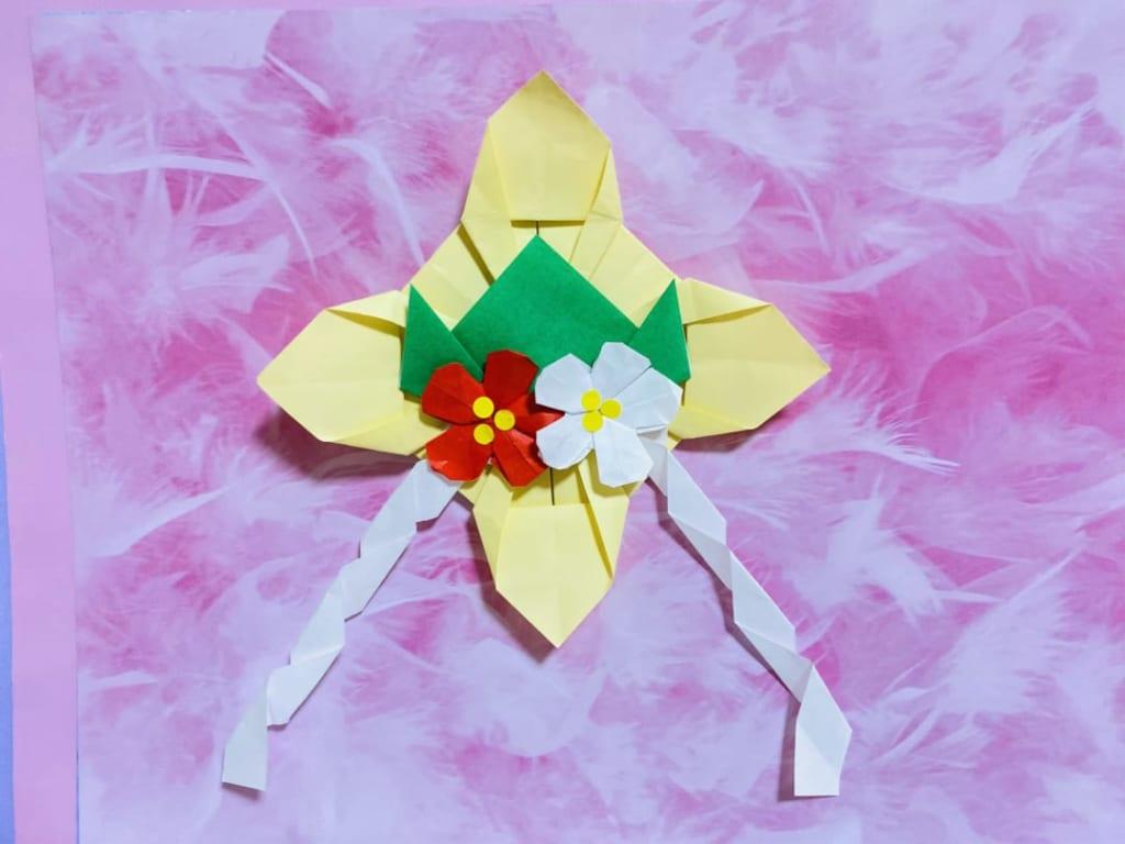 だ〜ちゃんさんによる正月飾りの折り紙