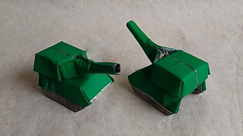 ハディさんによる戦車の折り紙