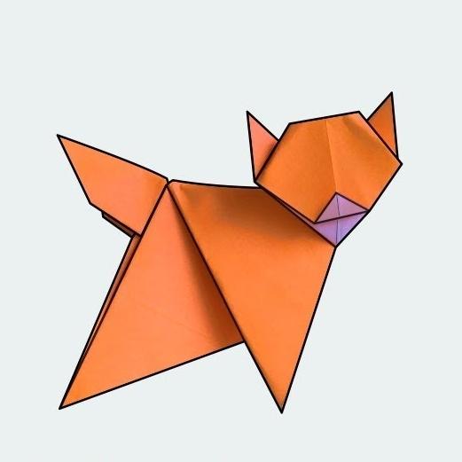 ハディさんによるねこの折り紙