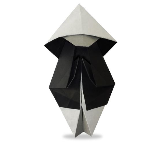 おりがみくらぶ(新宮文明)さんによるおぼうさんの折り紙