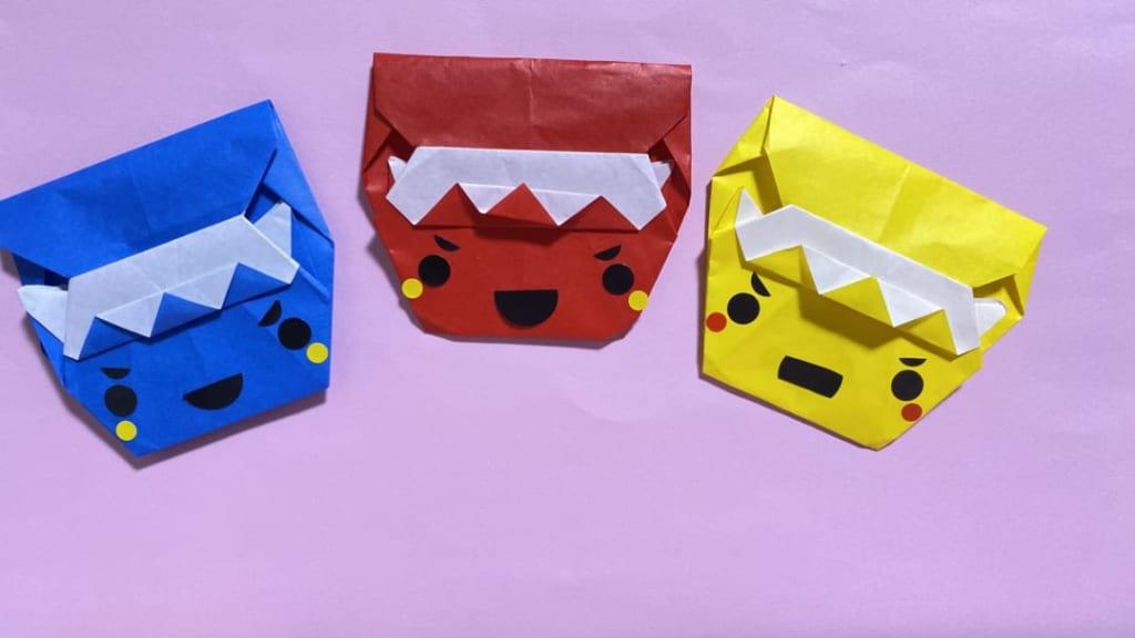 だ〜ちゃんさんによるオニのぽち袋の折り紙