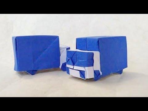ハディさんによる箱トラックの折り紙