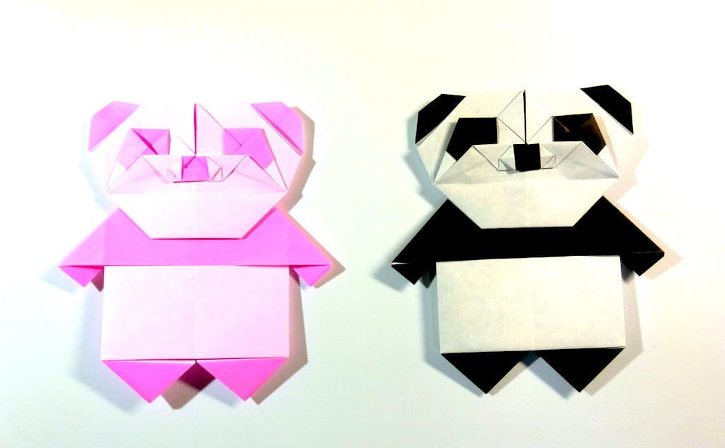 竹内ケイさんによるパンダの折り紙