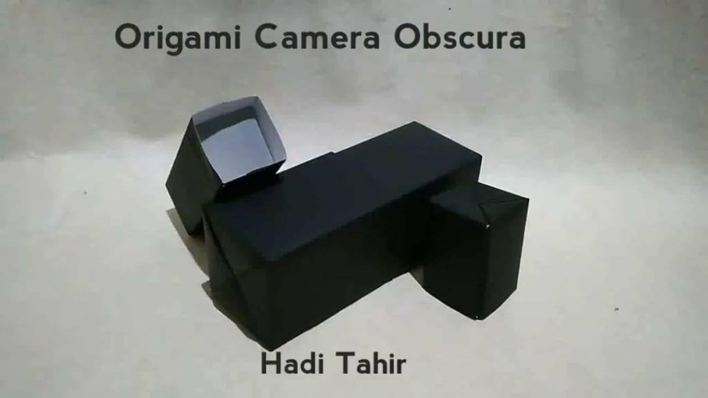 ハディさんによるカメラ・オブスクラの折り紙