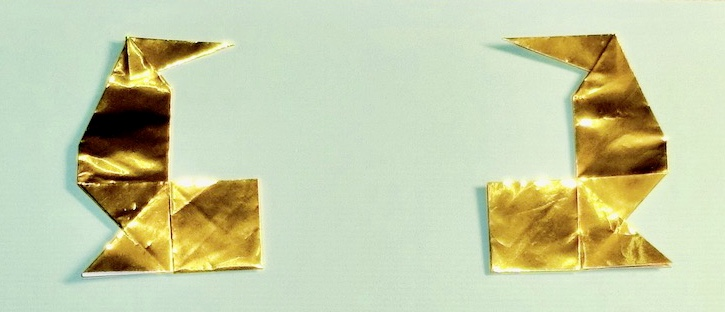 竹内ケイさんによる鯱鉾の折り紙