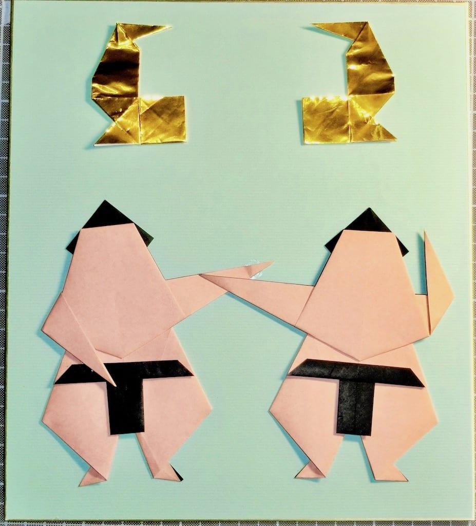 竹内ケイさんによる力士の折り紙