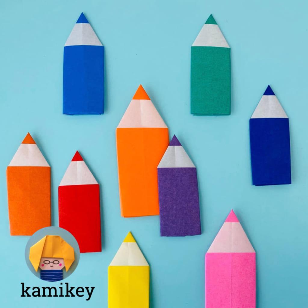 カミキィさんによるえんぴつの折り紙