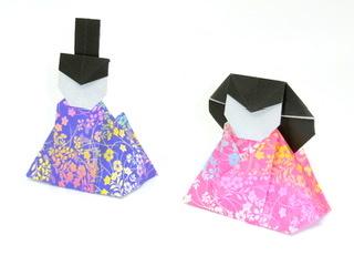竹内ケイさんによるお雛様の折り紙