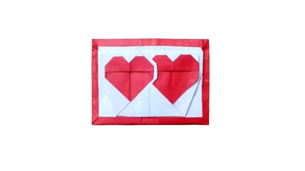 ハディさんによる二つの心臓の折り紙