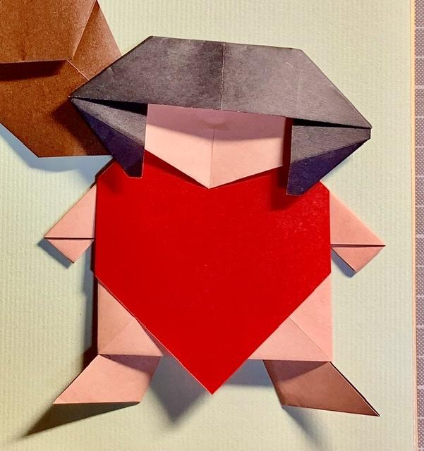 竹内ケイさんによる金太郎の折り紙