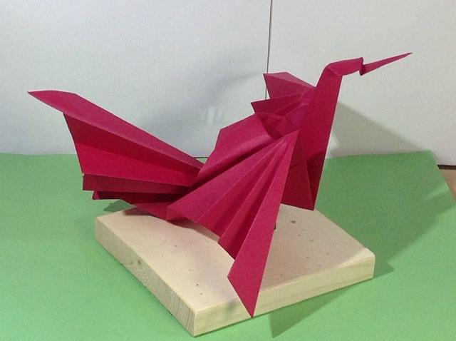 竹内ケイさんによる鳳凰の折り紙