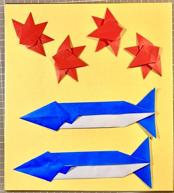 竹内ケイさんによるサンマの折り紙