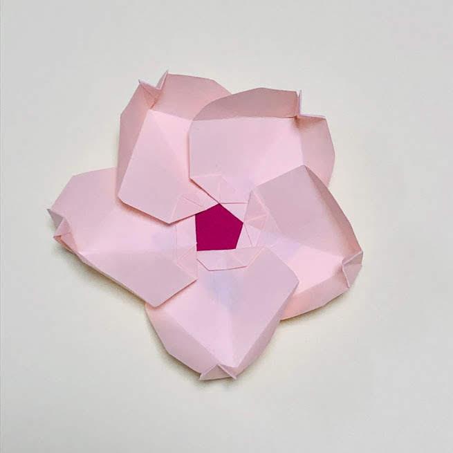 yuhpandaさんによる桜の器①の折り紙
