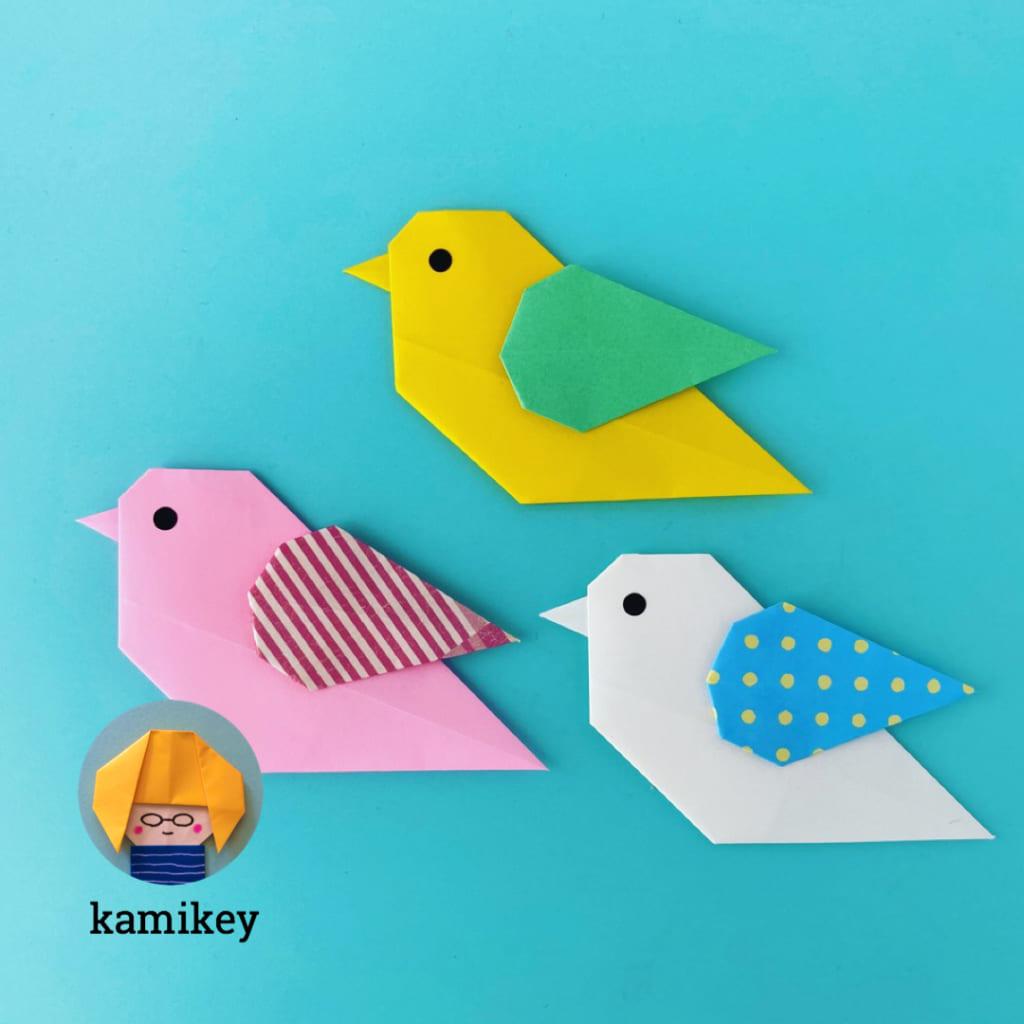 カミキィさんによることり(折り図)の折り紙