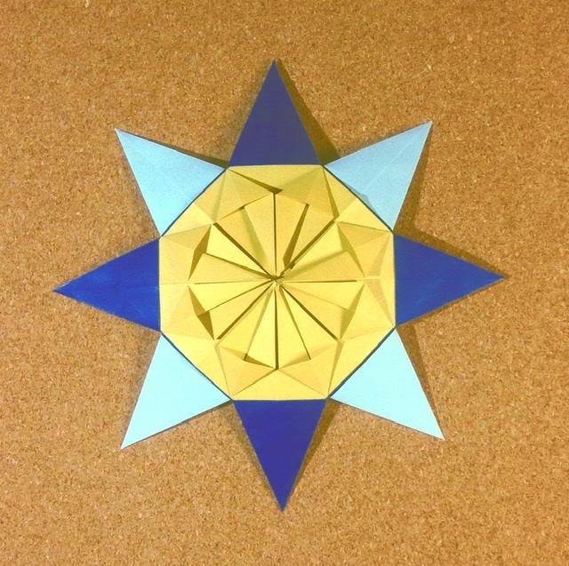 竹内ケイさんによる太陽の折り紙