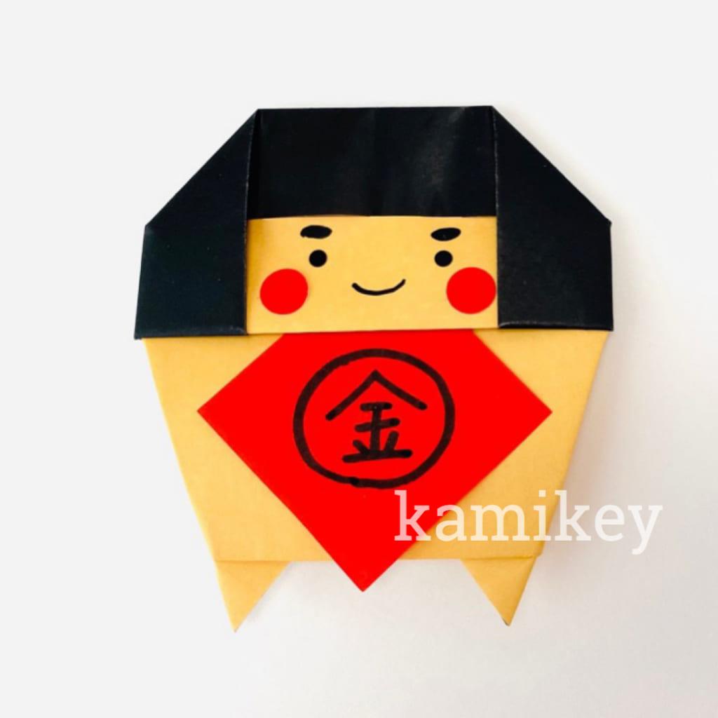 カミキィさんによる金太郎くんの折り紙