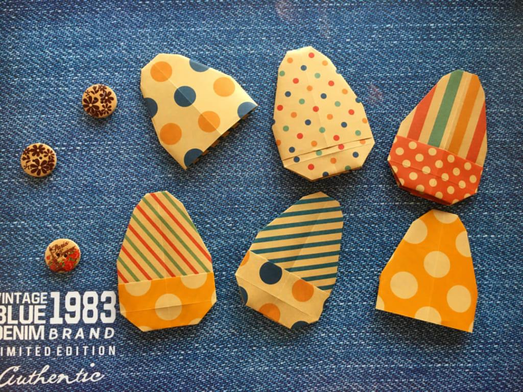 Oriya小町さんによる着せかえイースターエッグ❷殻部分の折り紙