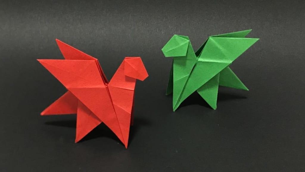 さくBさんによるドラゴンの折り紙
