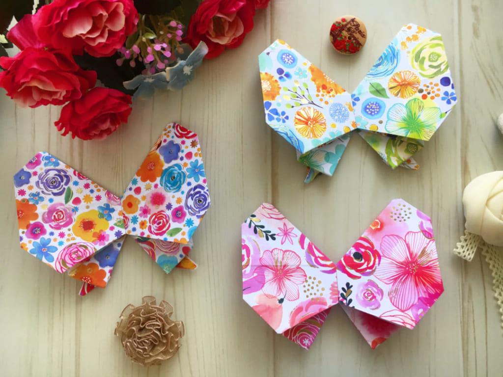 Oriya小町さんによる小町の蝶々リボンの折り紙