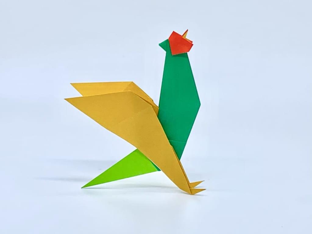 竹内ケイさんによるキジの折り紙