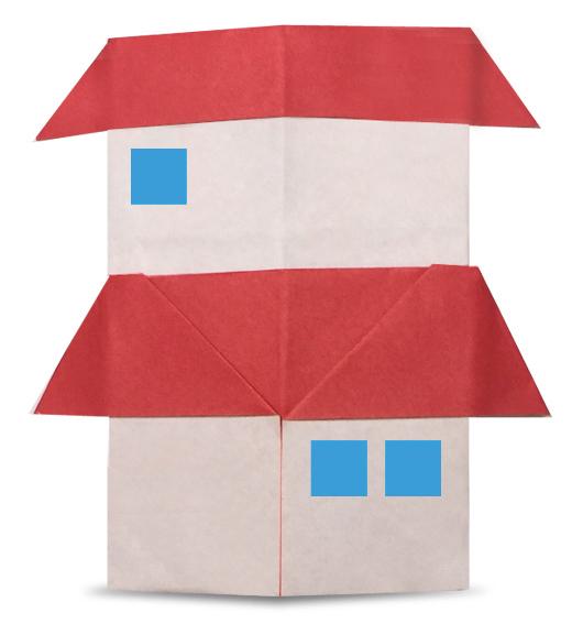 おりがみくらぶ(新宮文明)さんによるにかいだての折り紙
