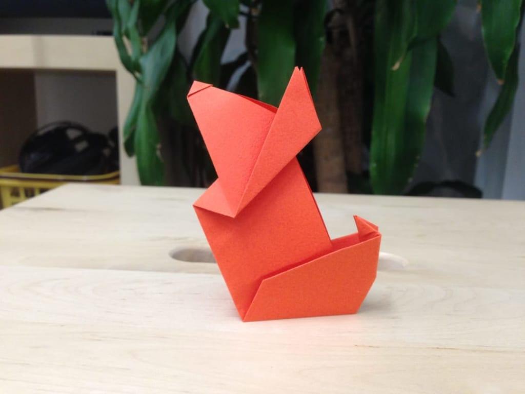 竹内ケイさんによるイヌ 1の折り紙