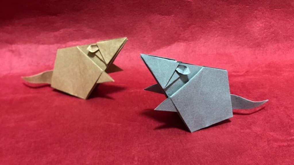 さくBさんによるネズミの折り紙