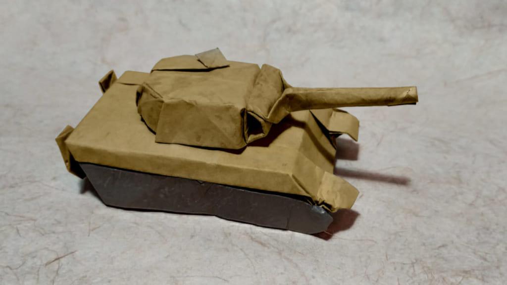 ハディさんによるパンター戦車の折り紙