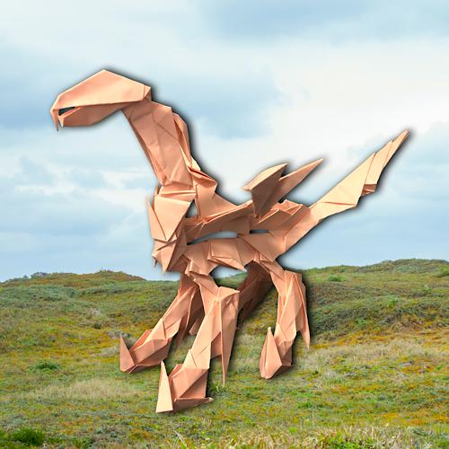りょうすけ@組み立て折神工房Assembly Origami Workshopさんによる「グランド・エスタブ」 25枚の折り紙