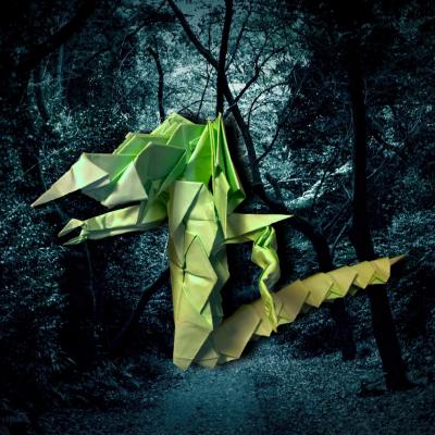 りょうすけ@組み立て折神工房Assembly Origami Workshopさんによる作品No.361「夜刀神」 23枚の折り紙