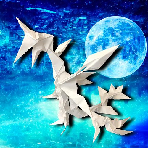 りょうすけ@組み立て折神工房Assembly Origami Workshopさんによる「時季龍セゾン」 26枚の折り紙