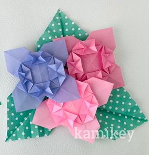 カミキィさんによるあじさいの折り紙