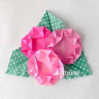 カミキィさんによるまるあじさいの折り紙