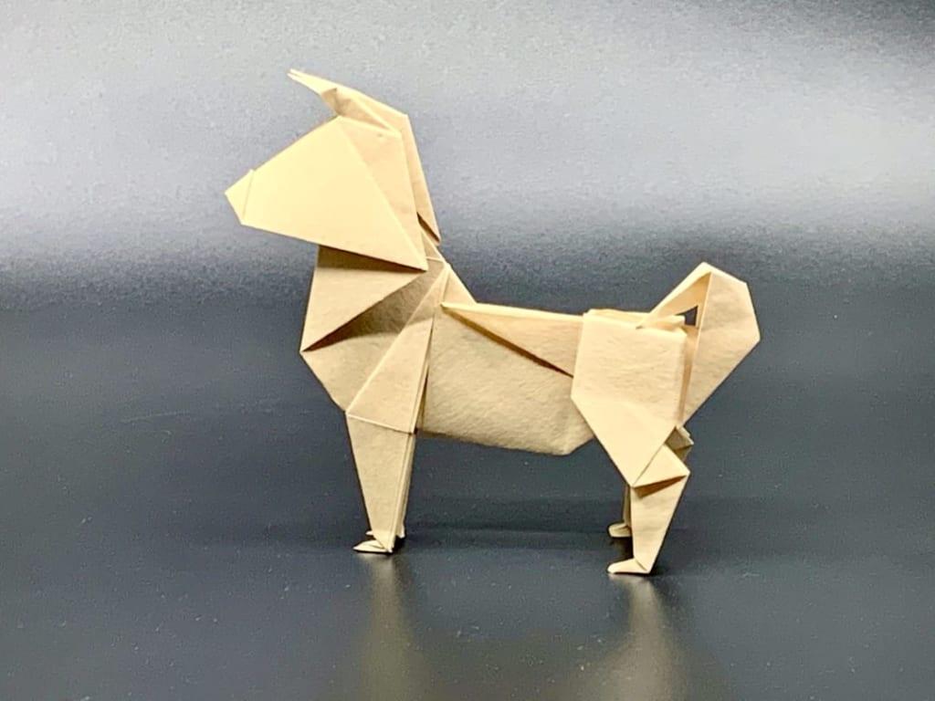 竹内ケイさんによるイヌ3の折り紙
