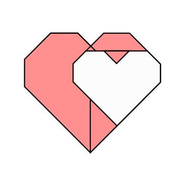ハディさんによるハート💕の折り紙